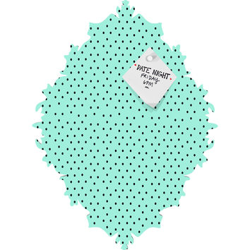 Allyson Johnson Minty Blue Polka Dots Baroque Magnet Board