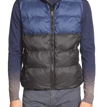 Men's French Connection 'Split Trent' Hooded Puffer Vest,