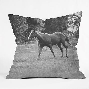 Allyson Johnson Out In The Pasture Throw Pillow