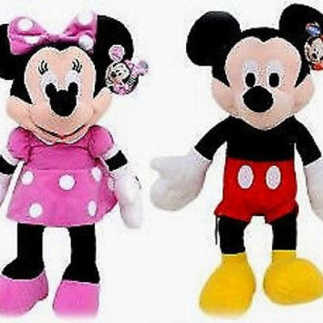 "DISNEY 17"" MICKEY MOUSE & MINNIE MOUSE COMBO PLUSH TOY-LICENSED STUFFED TOY"