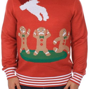 Ugly Christmas Sweater - Gingerbread Nightmare Sweater (Red) by Tipsy Elves