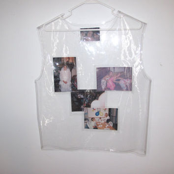 clear vinyl photo sharing vest