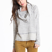 Stripe Cowl Neck Top by Free People - $98.00 : ThreadSence.com, Your Spot For Indie Clothing & Indie Urban Culture