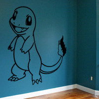 Charmander Pokemon Wall Decal Sticker Wall Art Vinyl Decal Charmeleon Charizard