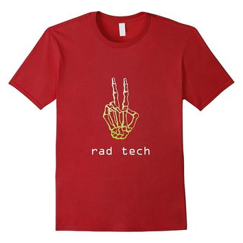 Rad Tech Radiology Peace Skeleton Hands Radiation T-Shirt
