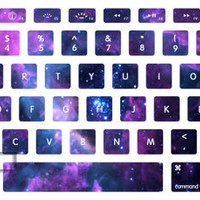 Purple Nebula keyboard decal mac pro decals mac pro stickers decals stickers Apple Mac Decal keyboard decals keyboard sticker  vinyl sticker