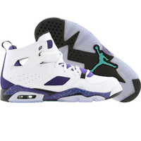 Jordan Big Kids FLTCLB Flight Club 91 (white / new emerald / grape ice / black) Shoes 555472-108 | PickYourShoes.com