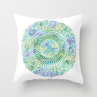 Intricate Nature  Throw Pillow by Janet Broxon