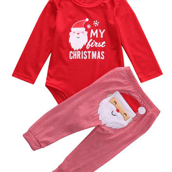 09bd5dbdb3ec Christmas kids boys Girls clothes baby from Honeybee Line