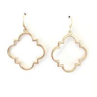 Tiler Charm Earrings In Gold