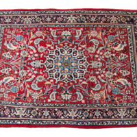 3x4 Red Persian Rug