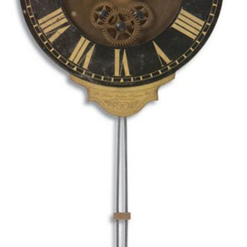 Uttermost Mini Leonardo Black Wall Clock - 06007