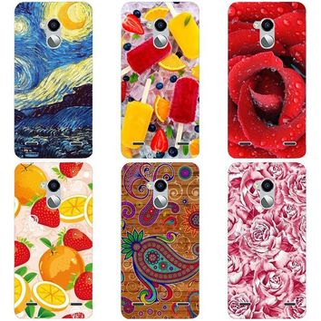 Luxury Printing Case For ZTE Blade V7 Lite V7Lite Blade V6 Plus V0720 Art Printed Cell Phone Cover Rose Funda Cute Animal Coque