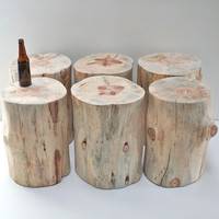 Stump Table Naked Tree Trunk Stool Seat Reclaimed Eco Friendly Minimalist