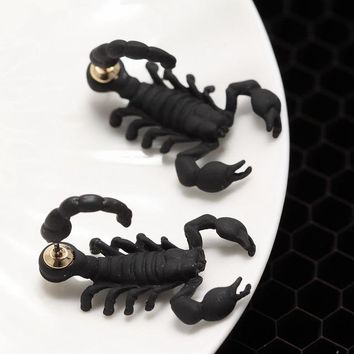 Punk Scorpion Stud Earrings