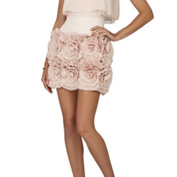 BCBG Alia Sleeveless Tiered-Ruffle Skirt Dress