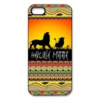 Hakuna Matata on Sunset Lion King Iphone 5s Plastic Black Case Cover