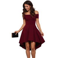 Cute Elegant Off Shoulder Party Dresses Skater Dress Formal Dress