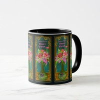 Vintage French perfume advertisement mug