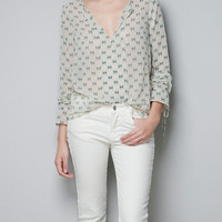 GEOMETRIC PRINT TOP - Shirts - TRF - ZARA United States