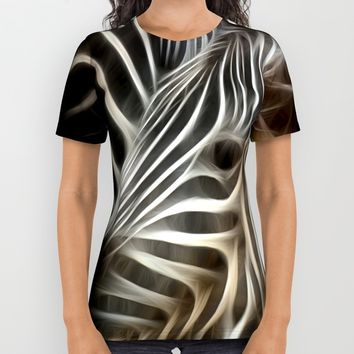 Zebra Love All Over Print Shirt by WhatisArt