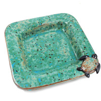 Sea Turtle Plate - Coastal Dish - Coastal Decor - Ceramic Dish