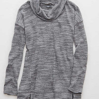 Aerie Real Soft® Cowl Neck Sweatshirt, Gray