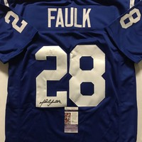 Marshall Faulk Signed Autographed Indianapolis Colts Football Jersey (JSA COA)