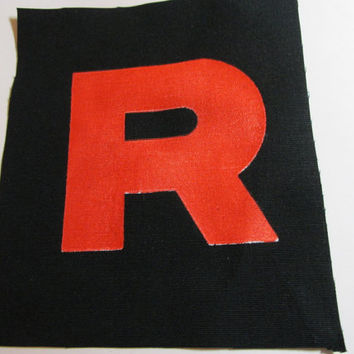 Team Rocket R Symbol Screenprinted Patch