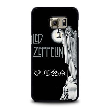 led zeppelin darkness samsung galaxy s6 edge plus case cover  number 1
