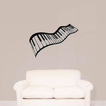 Wall Stickers Vinyl Decal Piano Music Keys Excellent Decor Unique Gift (ig985)