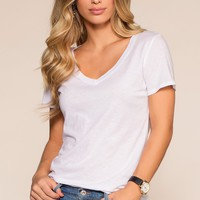 Jenna Basic Top - White