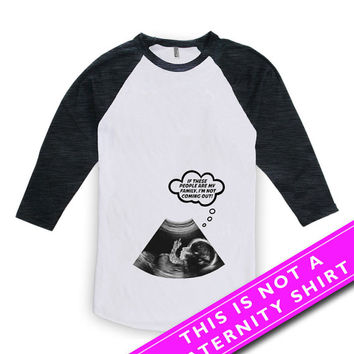 Pregnancy Announcement Shirt Baby Announcement Pregnancy Reveal Gifts For Expecting Mothers Mom To Be American Apparel Unisex Raglan MAT-618