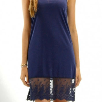 Full Dress Slip in Navy
