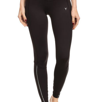 Go-Dry Womens Double Stitched Reflective Leggings