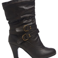Heeled Buckle Boot | Wet Seal