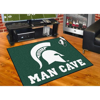 Michigan State Spartans NCAA Man Cave All-Star Floor Mat (34in x 45in)