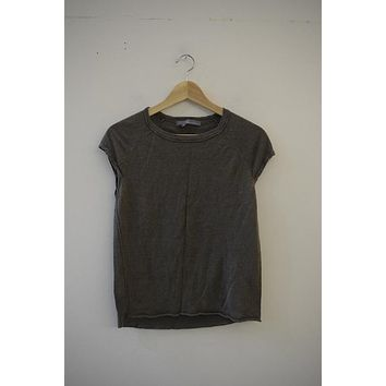 360 Sweater Olive Linen Shell Tee