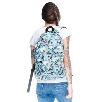 One Hundred Dollar Bill Collage Backpack
