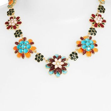 kate spade new york 'bold blooms' graduated collar necklace | Nordstrom