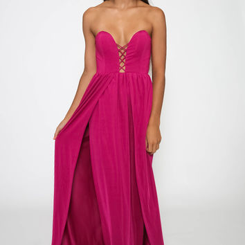 Wade Rose Dress - Fuchsia