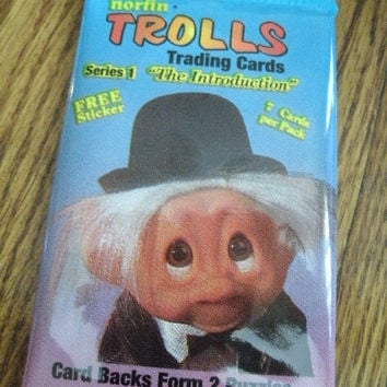 Norfin Troll Cards From 90s Lot of Unopened 3 Packs of Cards
