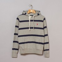 Polo Ralph Lauren Long Sleeve Hooded Pullover (Dark Sport Heather | Oi Polloi
