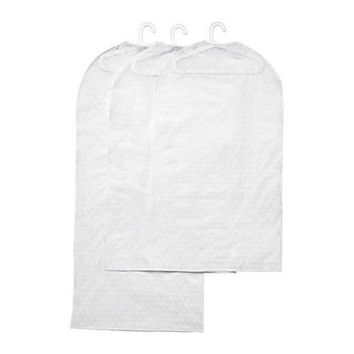 IKEA set 3 clothes cover transparent  white garment bag closet organizer PLURING
