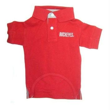 DCCKT9W Ohio State Buckeyes Dog Polo Shirt