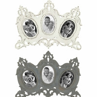 Benzara Adorable Vintage Themed Set of 2 Wooden Wall Photo Frames