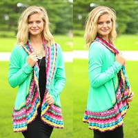 Crayola Cutie Cardigan in Green