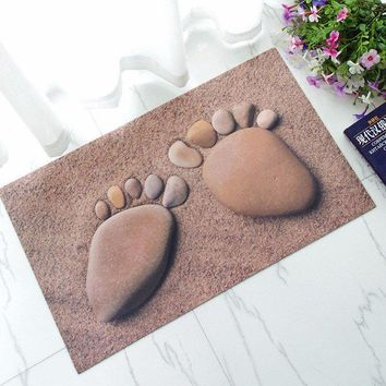 Rubber Door Mat 3D Chic Home Rug Baby Foot Area Rug Carpet Bathroom Anti-slip Floor Mat