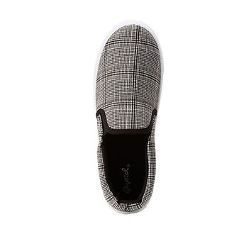 Plaid Slip On Sneakers | Charlotte Russe