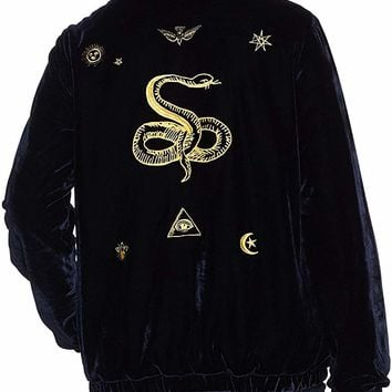 Women's Spades Velvet Zip Jacket